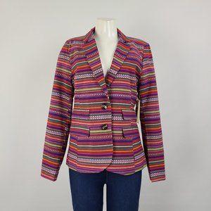 Press Purple Striped Blazer Size M